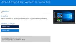 Stáhnout image disku s Windows 10 32 bit